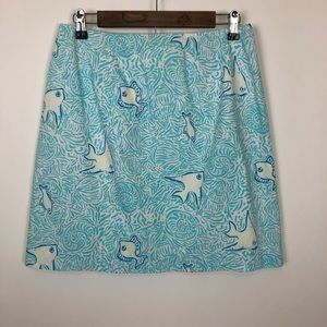 Lilly Pulitzer underwater fish pencil skirt 8